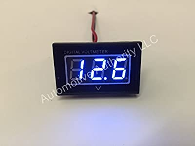 Automotive Authority LLC® 12V 12 Volt Digital Marine Trolling Motor Battery Indicator Charge Status Power Meter - BLUE