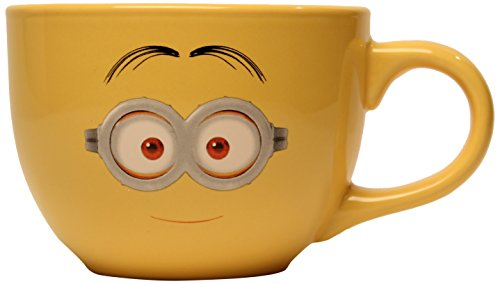 Silver Buffalo DM8124 Despicable Me One-Eyed Minion Ceramic Soup Mug, 24-Ounce, Yellow - 1