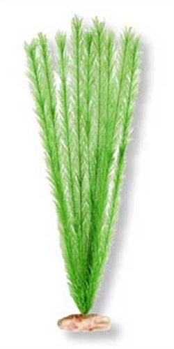 Soft Foxtail Silk-Style Aquarium Plant - Emerald Green, 18-19 inches