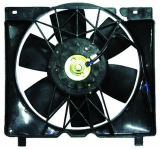 QP A7008-a Jeep Cherokee XJ Replacement AC A/C Condenser Radiator Cooling Fan/Shroud Assembly (Jeep Xj Fan Shroud compare prices)