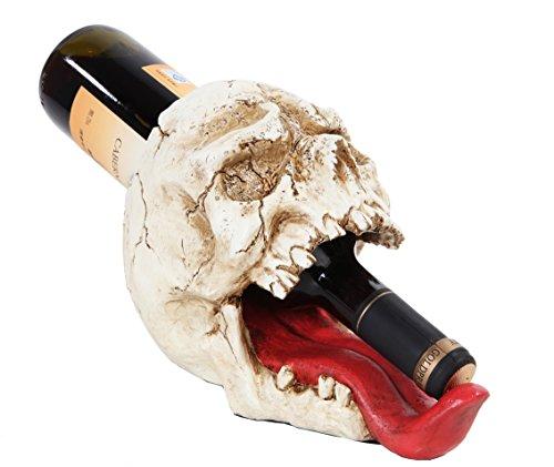 Skull Human Tongue Wine Holder Skeleton Bottle Holder