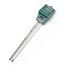 Onegood 3-In-1 Garden Handle Probe Light Luxmeter & PH Meter Soil Moisture Tester Green (1)