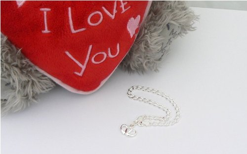 Double Heart Charm Bracelet - Sterling Silver personalized Gift