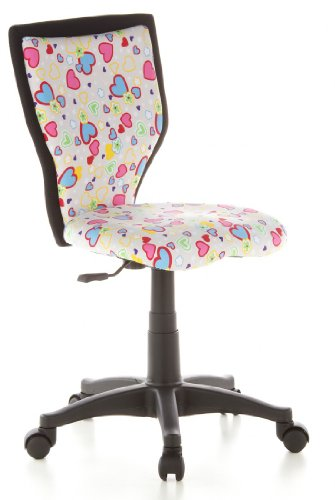 hjh-OFFICE-670070-KIDDY-LUX-Flowers-Hearts-Silla-para-nios-y-silla-giratoria-tejido-rosa