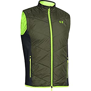 Under Armour Herren Top UA Knock Down Vest, Rough/Steel/High-Vis Yellow, L, 1248116-334