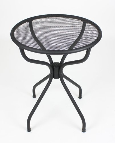All-weather Metal Patio Table - Black Powder Coated (Round 24)