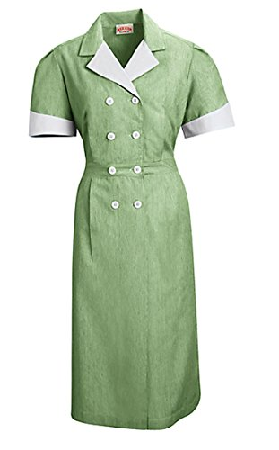 Dss Lapel Dresses Dble Brsted Front (Large, Hunter Green) front-1015964