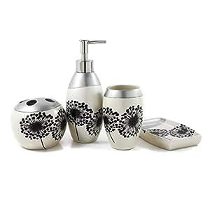 Dream bath dandelion decal bath ensemble 4 for Bathroom decor amazon