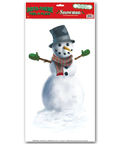 Snowman Peel 'N Place Party Accessory (1 count) (1/Sh)