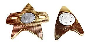 Star Trek VOYAGER Goldtone/Silvertone MAGNETIC COMMUNICATOR BADGE
