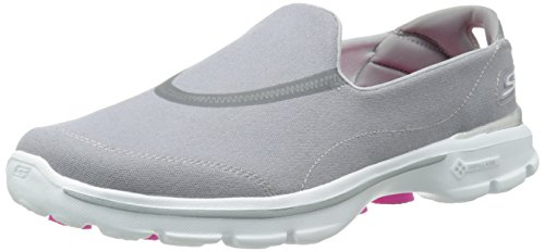 Skechers Performance Women's Go Walk 3 Spring Lite Slip-On Walking Shoe,Gray,8 M US