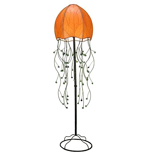 Eangee Jellyfish Series FloorLamp, 67-Inch Tall, Orange