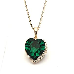 18ct gold finish shaped pendant necklace with