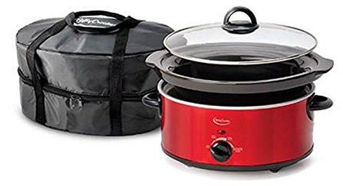 Betty Crocker BC-1544C Slow Cooker with Travel Bag, 5-Quart, Red (Westinghouse Everything Pot compare prices)