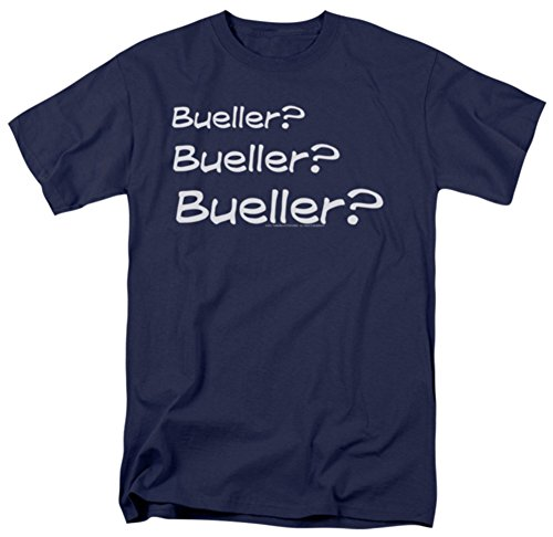 Bueller? Three Times. Men's 80s Movie T-shirt. S to 5XL.