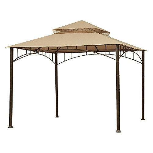 Garden Winds Replacement Canopy for Target Madaga Gazebo, Beige (Target Madaga Gazebo compare prices)