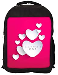 Snoogg Be My Valentine Backpack Rucksack School Travel Unisex Casual Canvas Bag Bookbag Satchel