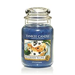 Yankee Candle Blueberry Scone Large Jar Candle, Food & Spice Scent