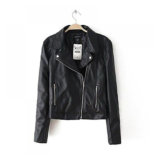 Europe Punk Autumn Back Rivets Skull Faux Leather PU Motorcycle Jackets SML