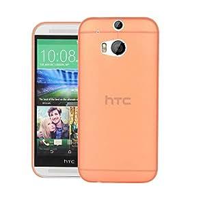 CUBIX® HTC One M8 Eye Case, Hard (Semi Transparent) Super Slim Matte Back Cover For HTC One (M8 Eye) (Orange)