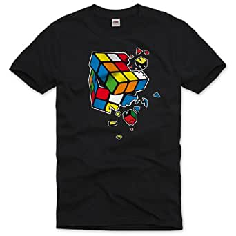 style3 Sheldon Rubik's Cube Homme T-Shirt Big Bang Theory, Taille:S