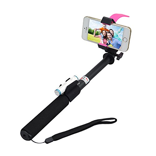 ultra light aluminum wireless bluetooth monopod extendable selfie stick with self timer. Black Bedroom Furniture Sets. Home Design Ideas