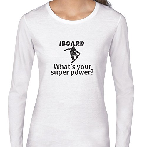 trendy-i-snowboard-whats-your-superpower-womens-long-sleeve-t-shirt