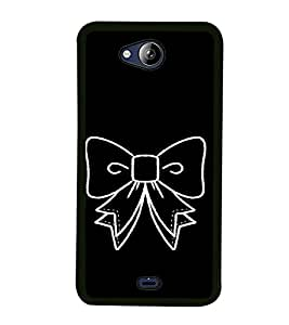 Bow 2D Hard Polycarbonate Designer Back Case Cover for Micromax Canvas Play Q355