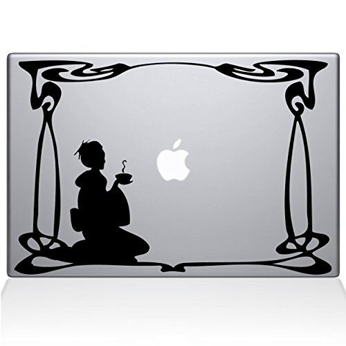 "Green Tea 13"" Macbook Pro Black Decal Sticker"