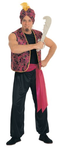 Rubie's Costume Sultan Complete Value Adult Costume, Black/Red, One Size