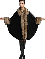 Aphratti Womens Wool Scarf Shawl Cap…