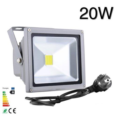 HimanJie-20W-LED-Fluter-Scheinwerfer-Aluminum-Flutlich-Spot-Lampe-AuenstrahlerInnenbeleuchtung-IP65-wasserdicht-Flutbeleuchtung-kaltwei-mit-stecker