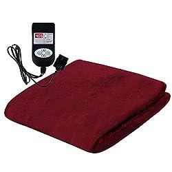 Winter Care Automatic Velvet Throw Blanket - Cherry (75 x 78)