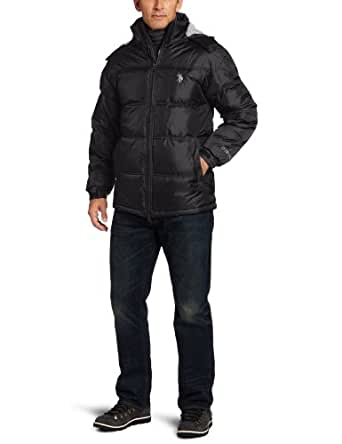 U.S. Polo Assn. Men's Signature Bubble Jacket With Small Pony, Black, X-Large