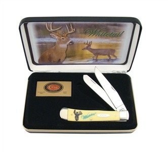 CASE XX WHITETAIL DEER Trapper Gift Set Yellow ...