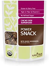 Navitas Naturals Organic Cacao Goji Superfood Power Snack, 8-Ounce