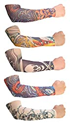 Jack& Ginni Sun Protector Arm Sleeves- Pack Of 5 Pairs