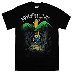Adventure Time Finn And Jake Spooky Forest Cartoon T-Shirt Tee