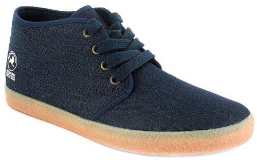 New Mens/Gents Blue Jack & Jones Lace Up Mid Cut Canvas Shoes. - Dress Blue - UK 6-10