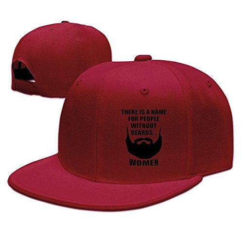 YQUE Unisex-Adult Thers Is A Name F Or Peopll Without Beards Hip Hop Headwear Red (Longest Beard)
