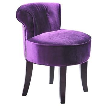 Pas cher petit pouf capitonn carrousel design crapaud velours violet achet - Petit fauteuil crapaud pas cher ...
