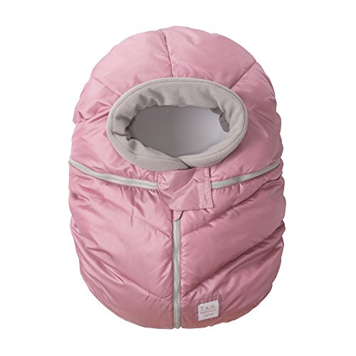 7AM Enfant Car Seat Cocoon: Infant Car Seat Cover Micro-Fleece Lined with an Elasticized Base, Metallic Lilac