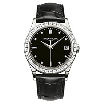 Patek Philippe Calatrava Men's Diamond Platinum - 5298P-010