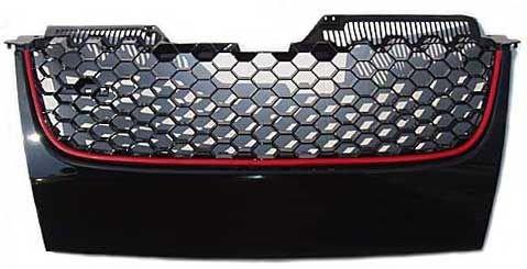 Kühlergrill ohne Logo Golf Mk5GTI Look schwarz