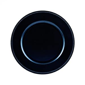 Koyal Wholesale Charger Plates Navy Blue Set Of 24 Dinner Pla