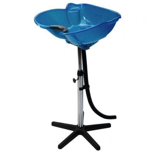 Hairdressers Blue Portable Tilting Backwash Stand