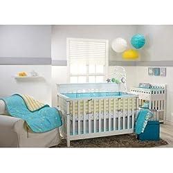 LITTLE Bedding by NoJo Twinkle Twinkle 4-Piece Baby Boy BabyGirl Crib Bedding Set