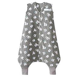 HALO SleepSack Early Walker Micro Fleece Wearable Blanket, Gray Pooch, X-Large