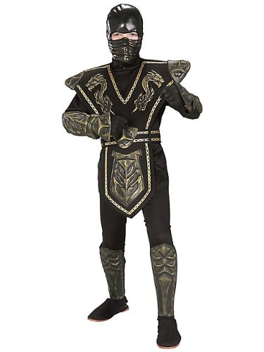 Big Boys' Gold Dragon Warrior Ninja Costume