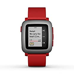 Pebble Technology Corp Time 501-00022 Smartwatch (Red)